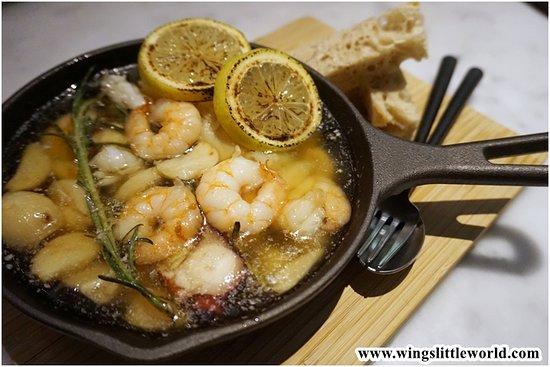 Portuguese Seafood Gambas, Sourdough