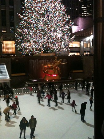 Nueva York, Estado de Nueva York: Xmas in ice skate Rockefeller Center - NY