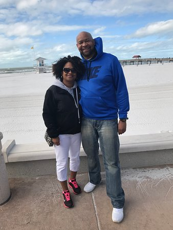 Mr and Mrs Scot on Clearwater beach- Dec 2018