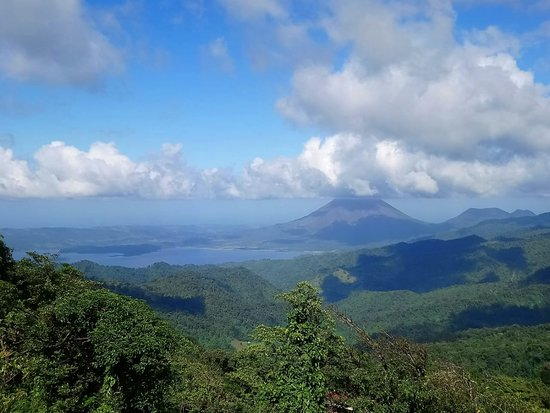Part of things you can enjoy with us. (Arenal Lake on left, Arenal Volcano on right)