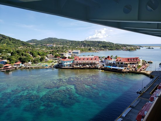 Port of Roatan, from a balcony room on NCL Getaway