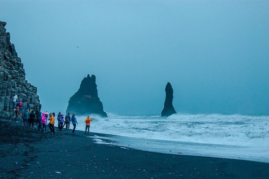 South Coast: Fire & Ice | Glacier Hike, LAVA, Waterfalls & Black Sand Beach: Black sand beach on the south coast
