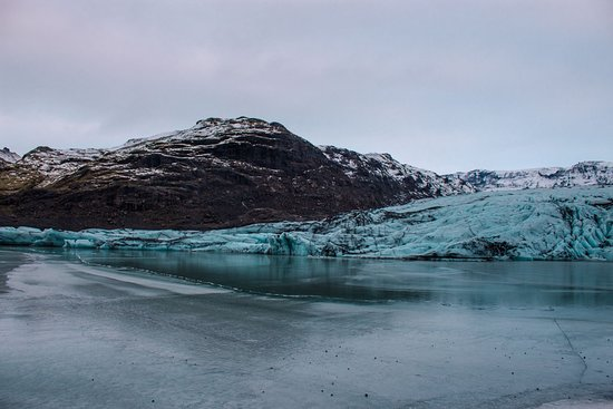 South Coast: Fire & Ice | Glacier Hike, LAVA, Waterfalls & Black Sand Beach: The glacier was stunning