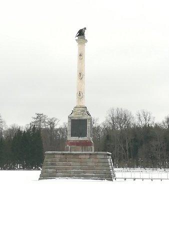 Чесменская колонна в Екатерининском парке, декабрь.