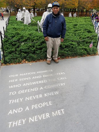 Korean War Memorial on Veterans Day, Nov. 2018