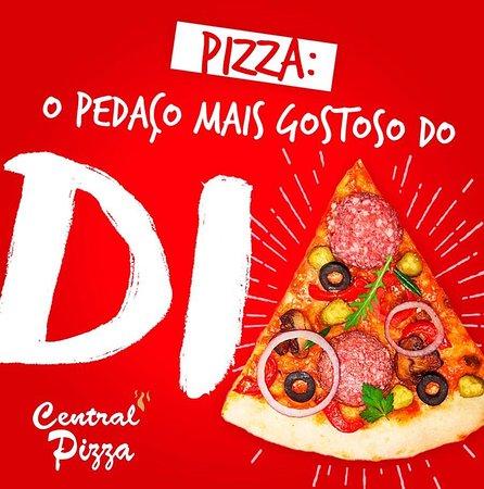 O Pedaço mais gostoso do Seu dia Central Pizza.