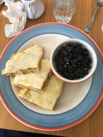 Spanish Omelet and Black Beans