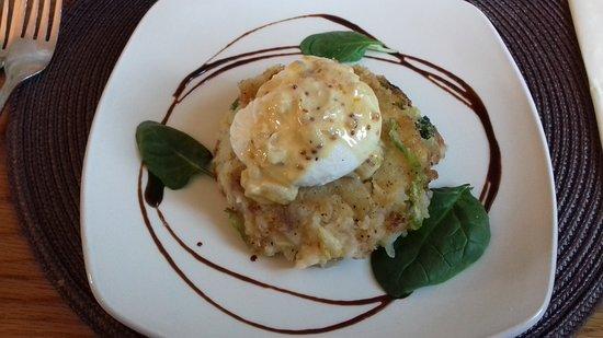 The Redstart Inn: Gluten free bubble & squeak cake