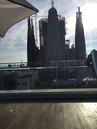 Terrazzo con vista su Sagrada Família