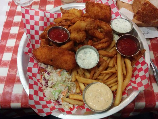My meal. Fish and chips with some souce