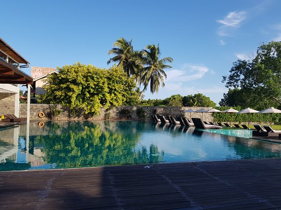 Pool view. (One of the two pools of Arie Lagoon)