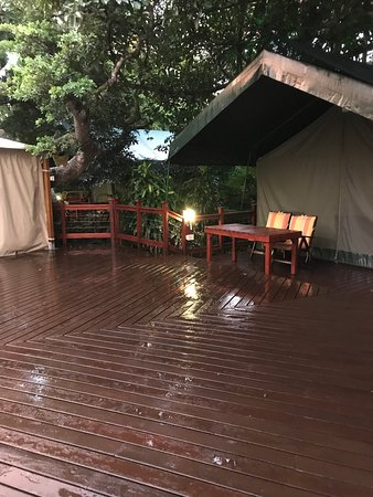 Surprise Tented Camp in the middle of town!