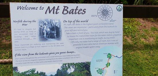 Norfolk Island, Australia: Interpretive Signage For Mt Bates