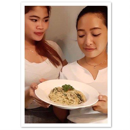 Delicious Yam Yam Spaghetti at YAM YAM Thai & Western Restaurant Yogyakarta