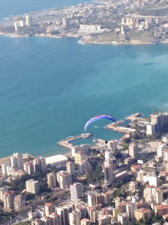 Fly above the beautiful Jounieh with our paragliding package.