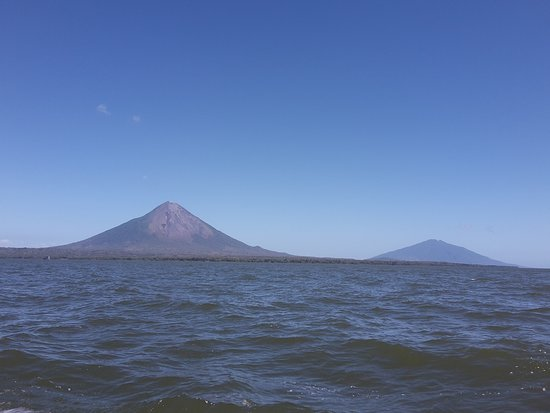 "Isla de Ometepe, Nicaragua: Ometepe, two volcanoes, Concepcion and Maderas in the far.. ""one day tour Nicaragua"