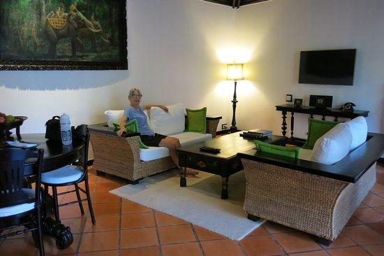 A vast dining / lounge area