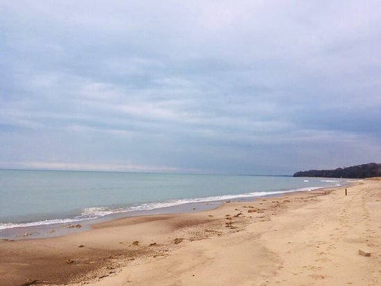Lakeside, MI: beautiful Lake Michigan is across the quiet street and down a bunch of steps
