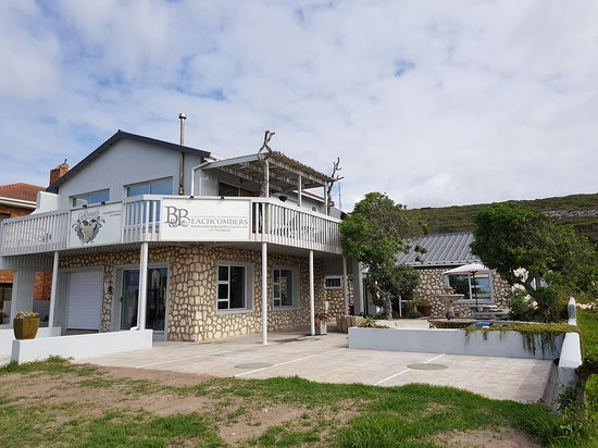 View of terrace and pond - Picture of Beachcombers Bed and Breakfast, L'Agulhas - Tripadvisor