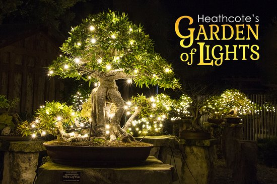 Fort Pierce, FL: Heathcote's Garden of Lights 2018 runs from November 23 - December 29, Friday and Saturday nights from 5:30 - 9:00. Refreshments, entertainment, Santa and Mrs. Claus - for a fun evening in the gardens.  For more information visit: www.heathcotebotanicalgardens.org