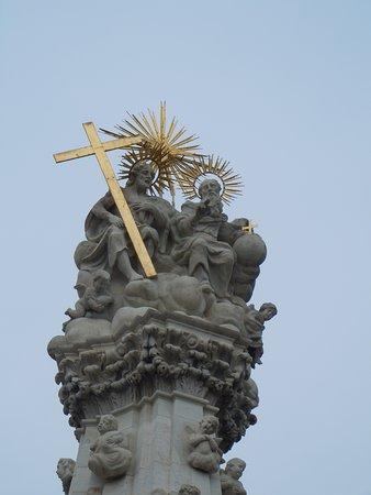 Détail de la colonne sur la place de la Sainte Trinité