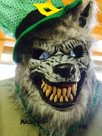 Northern Latitudes Distillery: Of course we love to celebrate every holiday here at the distillery! Even the dogman from our Michigan Dogman Moonshine gets gussied up each holiday!