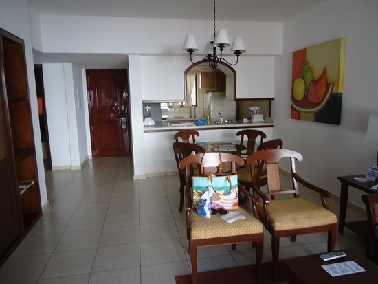 The Royal Cancun All Suites Resorts: Royal Cancun living area of a 2 bedroom unit.