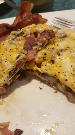 Al the goodies in the omelet