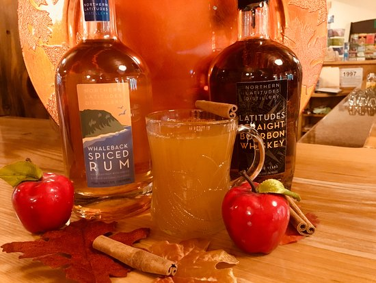 Northern Latitudes Distillery: On a cold day a hot cider with either Latitudes Straight Bourbon Whiskey or Whaleback Spriced Rum is perfect!