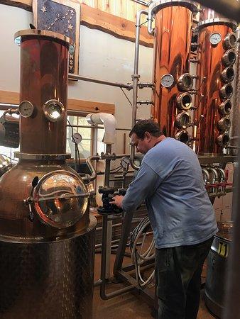 Mark busy distilling