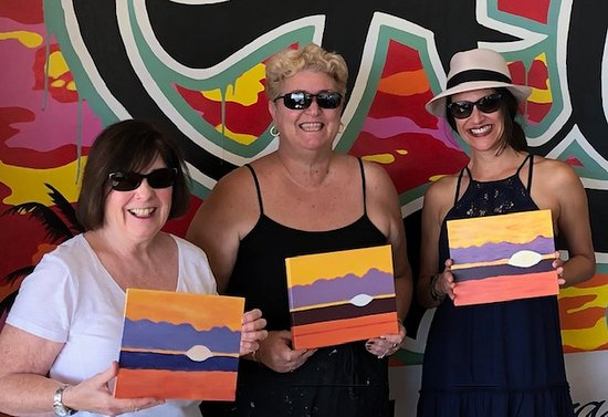 This Mother-in-law and daughter-in-law had a blast painting Last Sunset!!
