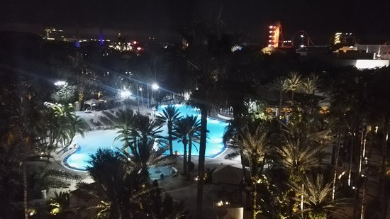 Room with a view by night