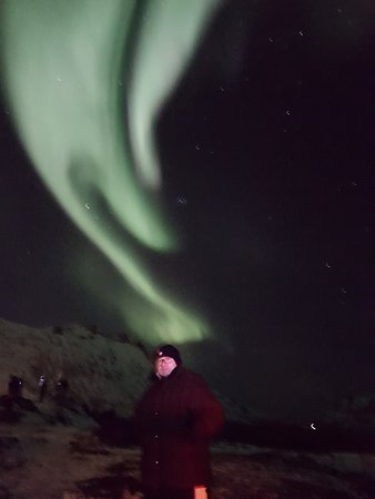 Northern light over the head.