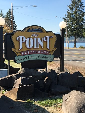 The Point Restaurant: Just watch for the sign