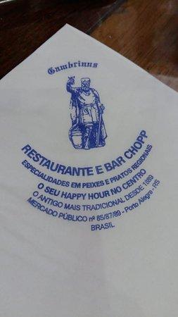 Restaurante Gambrinus: Fundado em 1889