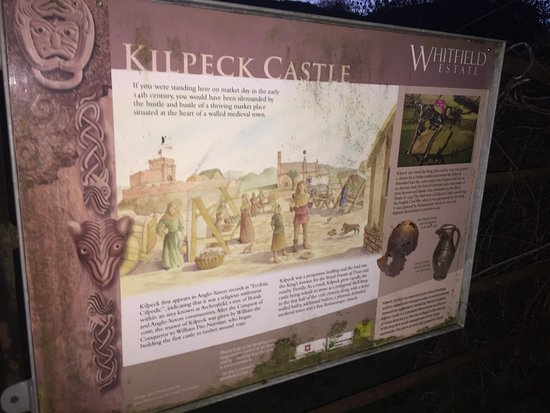 Herefordshire, UK: An info board at the main path entrance.