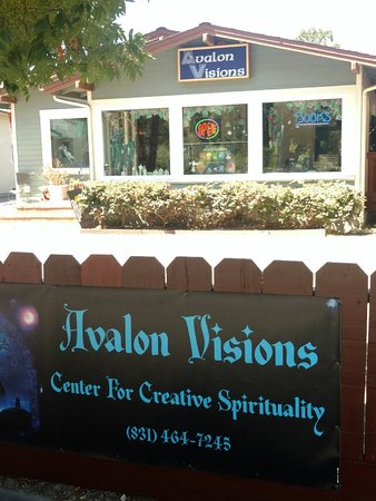 Avalon Visions Center For Creative Spirituality: Find Avalon Visions in lovely Soquel Village where there is great parking and great shopping.