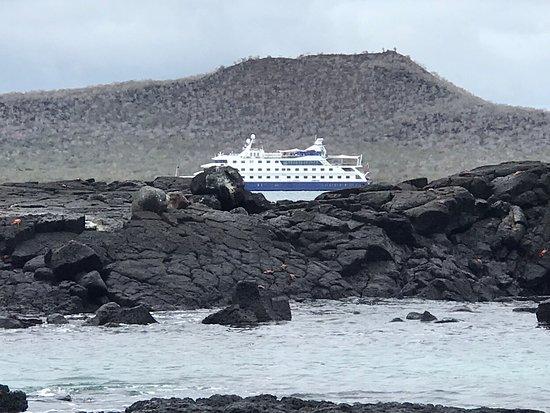 Galapagoseilanden, Ecuador: Crucero Santacruz desde una de las islas