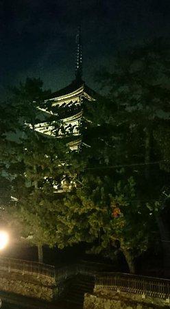 五重塔のライトアップもよく観ることができました。