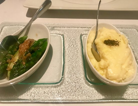 ‪‪Prime‬: Asparagus and truffle mashed potato were both good!‬