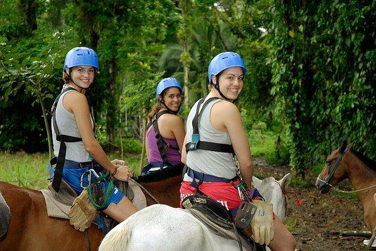 圣何塞组合之旅:骑马和萨拉皮基河乘船游览
