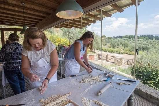 Cooking Class and Lunch at a Tuscan Farmhouse with Local Market Tour from Florence (364179696)