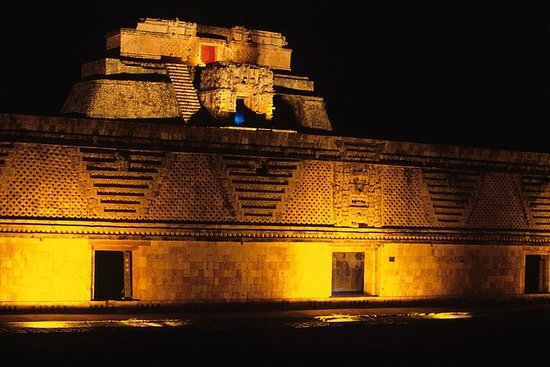 Uxmal Light and Sound Show - Gray