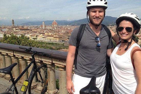 Visite à vélo : descente des collines...
