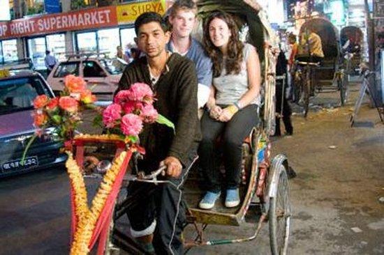 Kathmandu Kveldstur med Rickshaw...