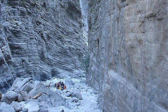 Recorrido por el cañón de Samaria...
