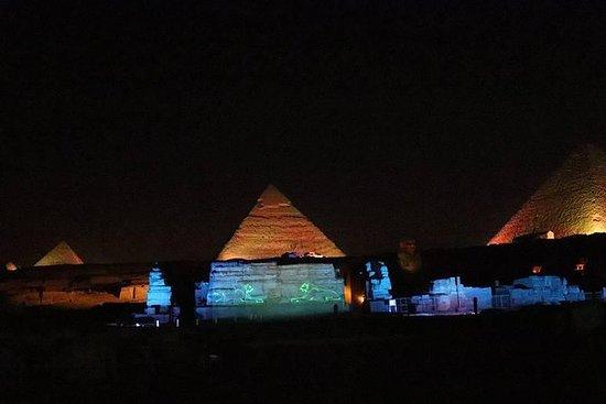 en times lyd og lys show fra Kairo...