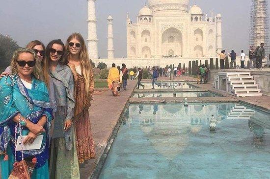 Taj Mahal og Agra dagstur fra Delhi