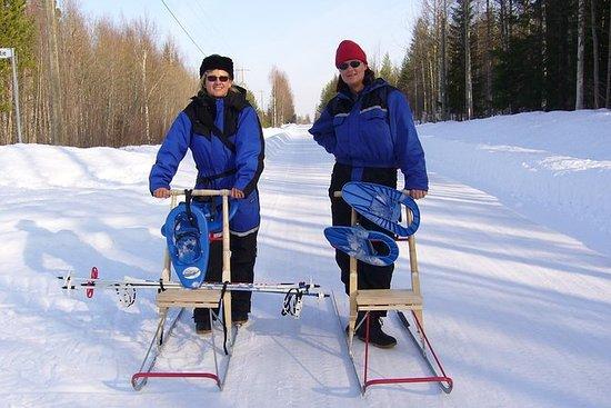 Dia de aventura de neve de Kemi