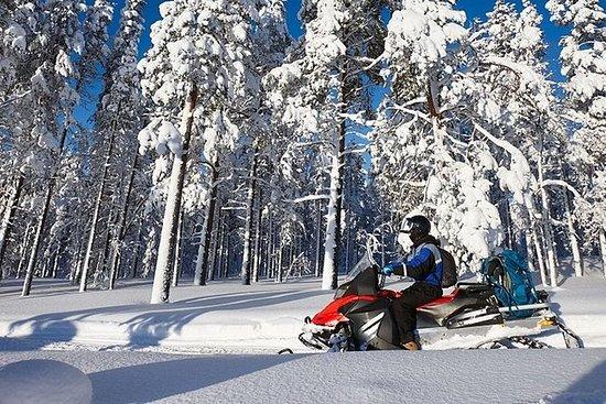 雪地摩托和冰钓体验
